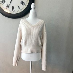 Urban Outfitters Chenille V-neck sweater